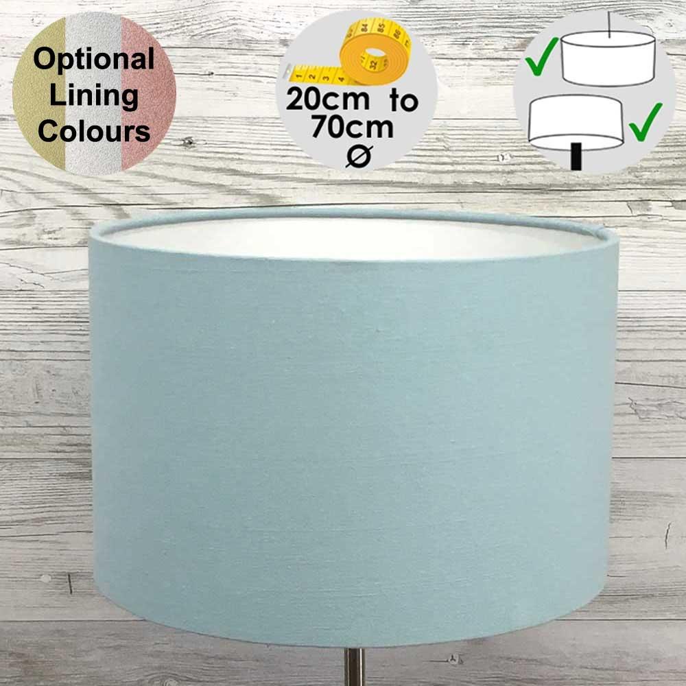 Aura Light Blue Drum Shade